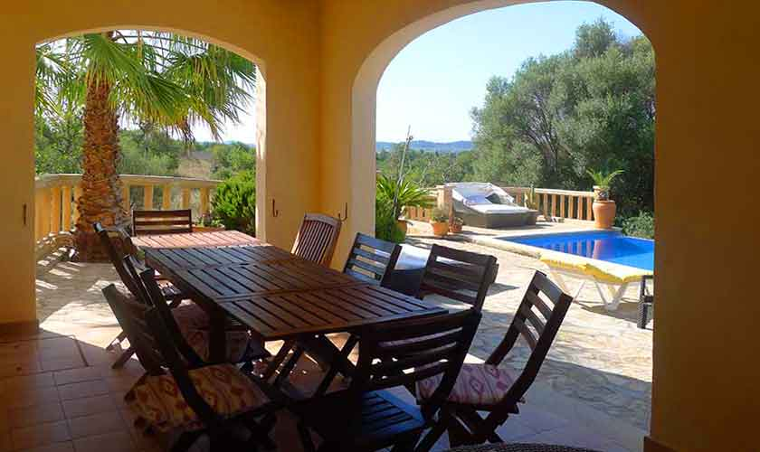 Terrasse der Finca Mallorca für 10 Personen PM 5681