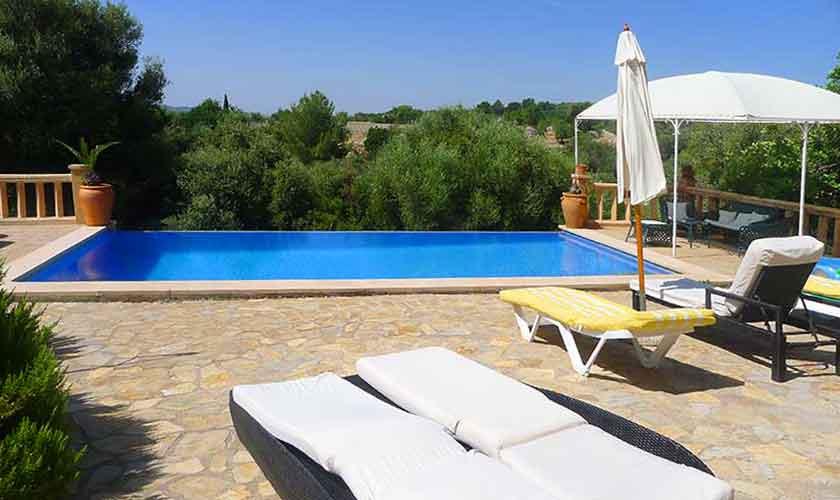 Pool und Terrasse Finca Mallorca für 10 Personen PM 5681