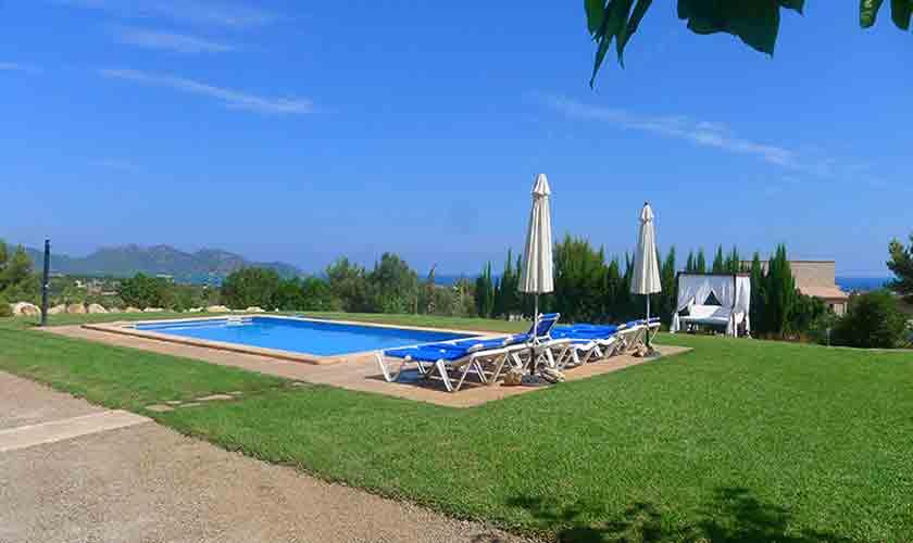 Pool und Blick Finca Malloorca PM 593