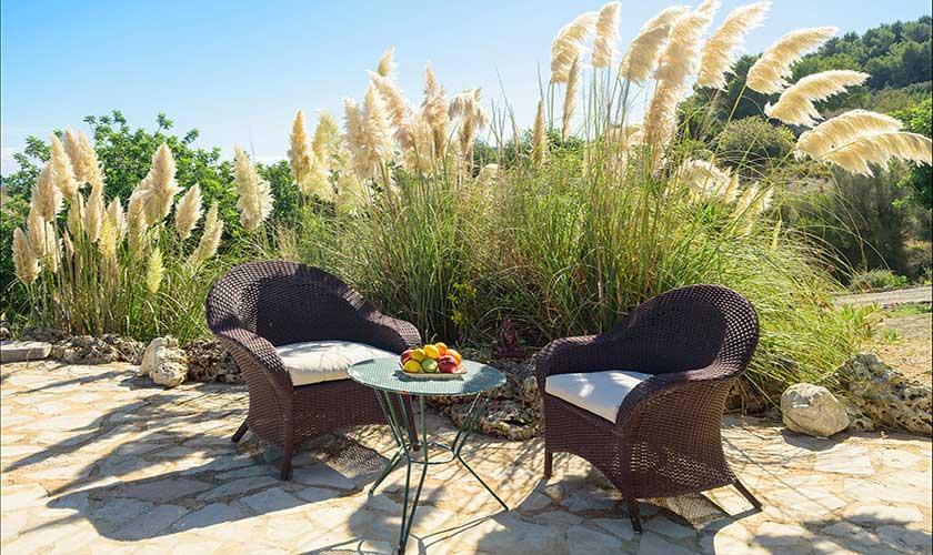 Sitzplatz im Garten Finca Mallorca PM 6010