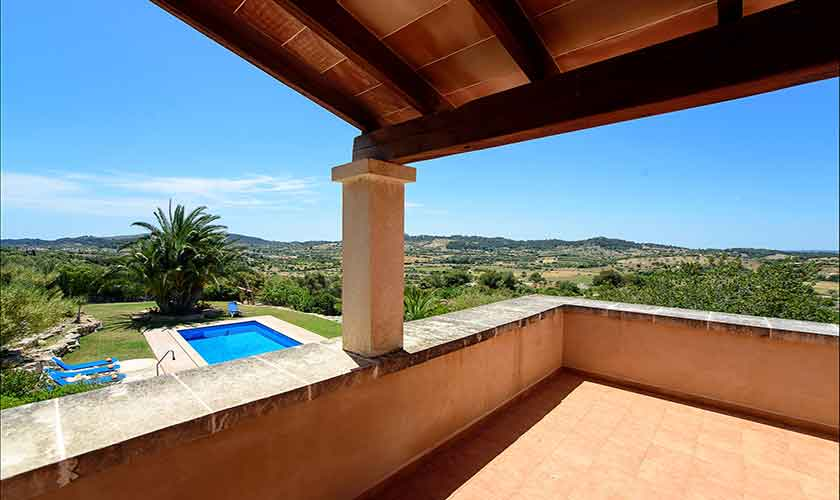 Blick  vom Schlafzimmer Finca Mallorca PM 6012