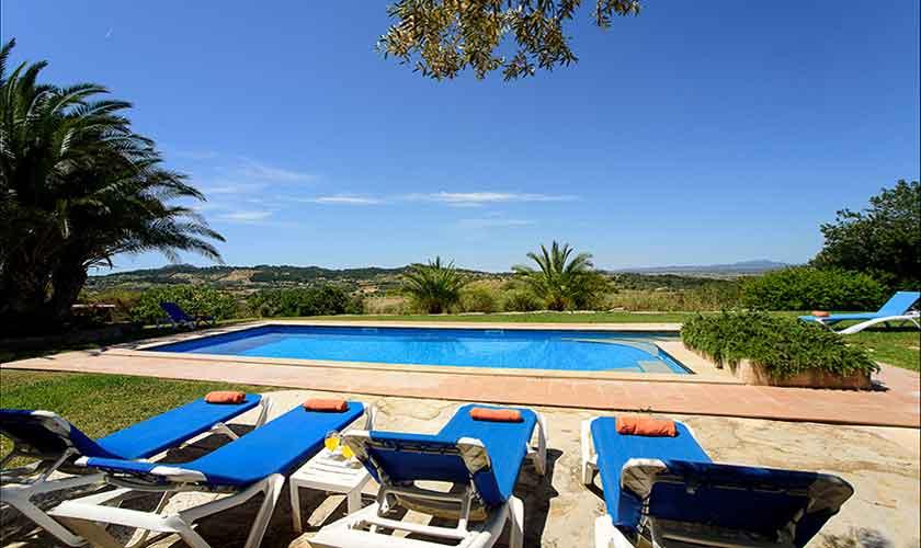 Poolblick Finca Mallorca 6 Personen PM 6012