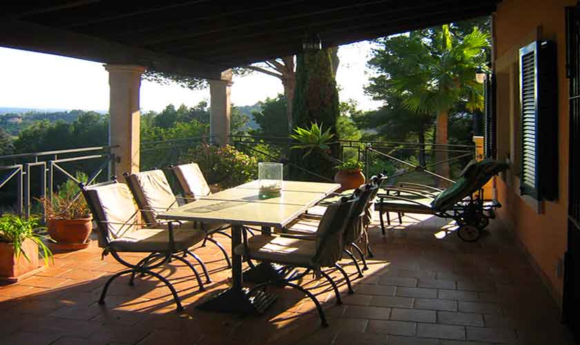 Terrasse Ferienvilla Mallorca 4 Personen PM 605
