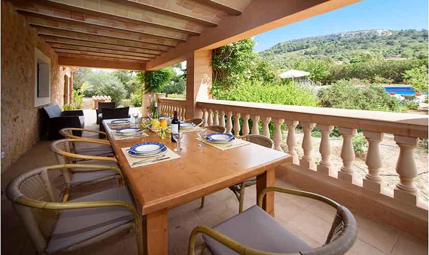Terrasse Finca Mallorca für 10 Personen PM 6054