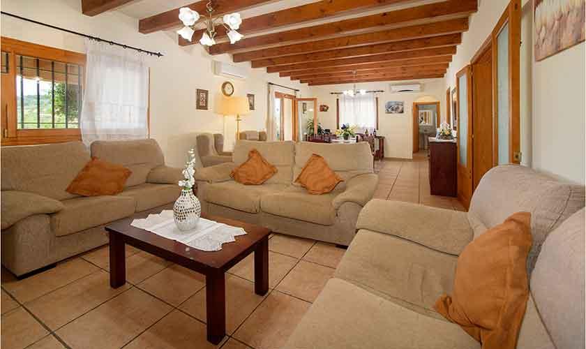 Wohnraum Finca Mallorca mit Pool PM 6054