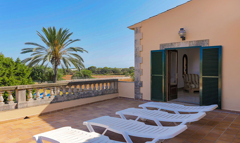 Terrasse oben Finca Mallorca PM 6071