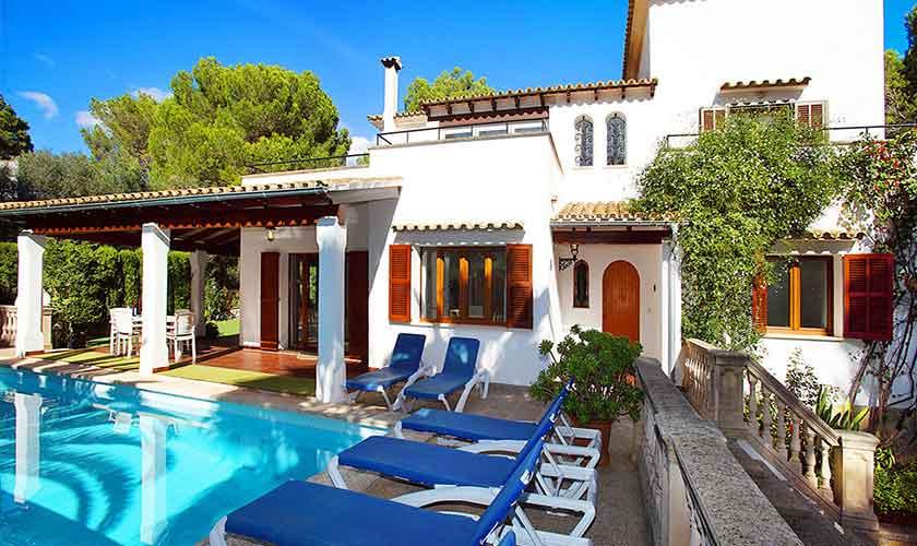 Pool und Terrasse Ferienhaus Mallorca Porto Petro PM 6082