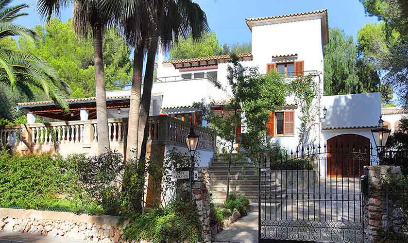 Blick auf das Ferienhaus Mallorca Portopetro
