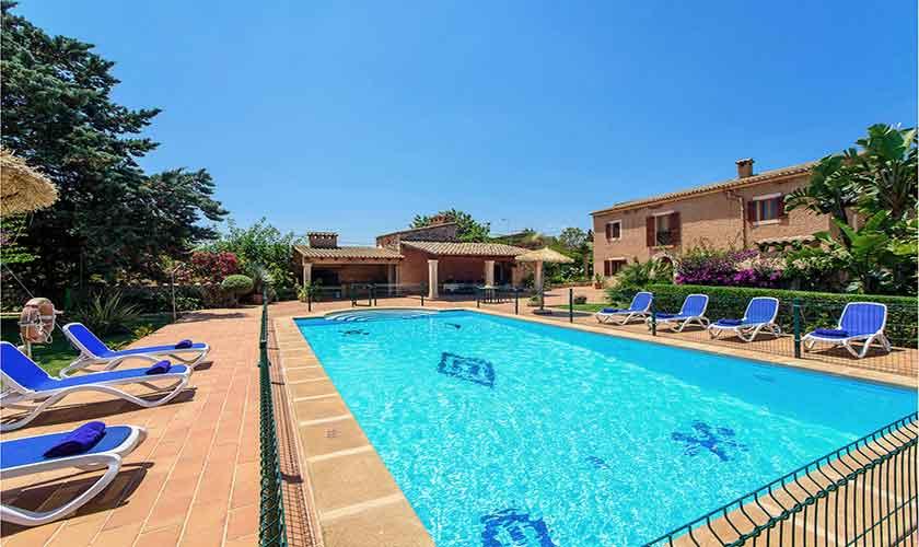 Poolblick  Finca Mallorca 10 Personen PM 6084