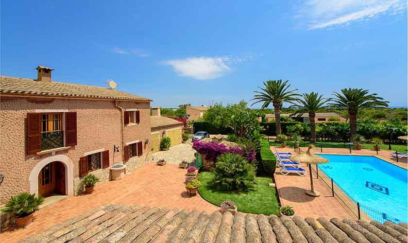 Pool und Terrasse Finca Mallorca 10 Personen PM 6084