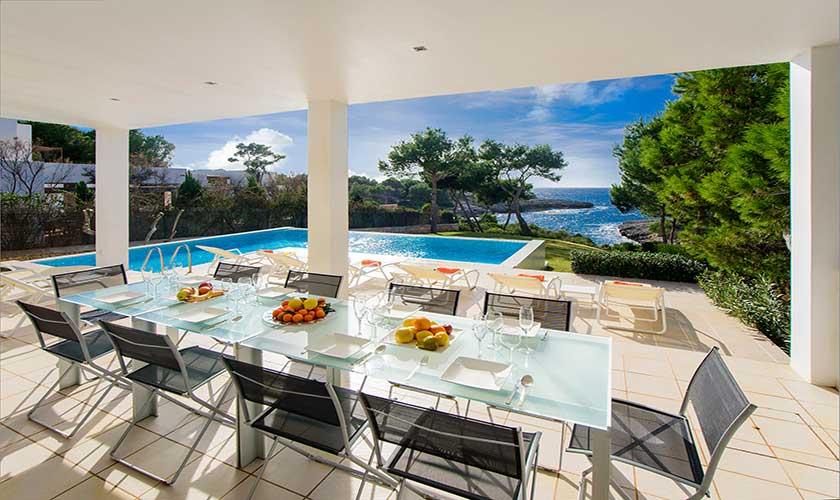 Terrasse und Meerblick Ferienvilla Mallorca PM 6088