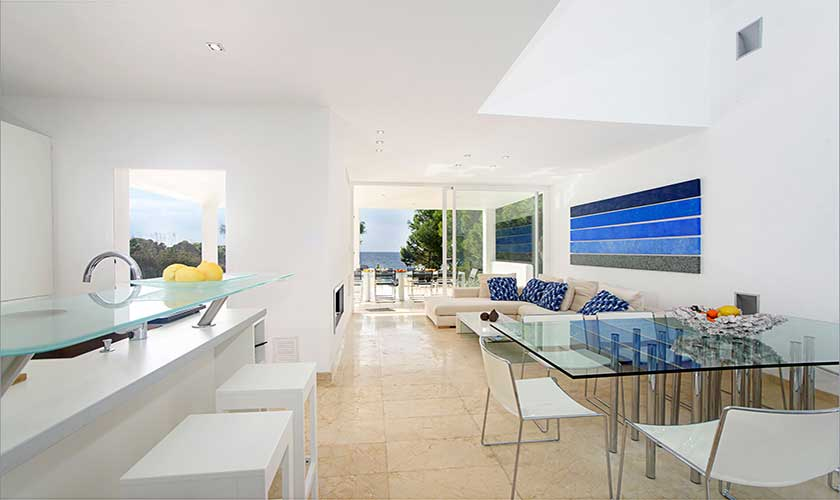 Moderner Wohnraum Ferienvilla Mallorca PM 6088