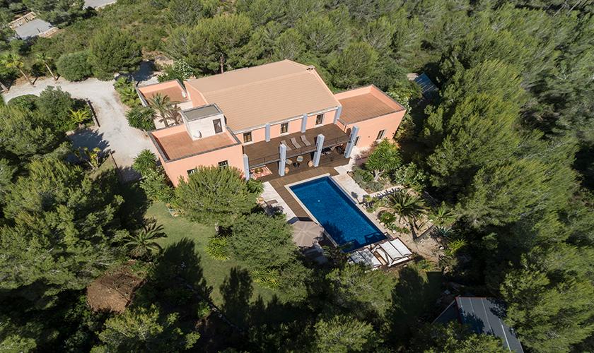 Blick von oben auf die Luxusvilla Mallorca PM 629