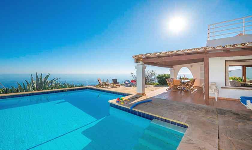 Meerblick und Ferienvilla Mallorca PM 6310