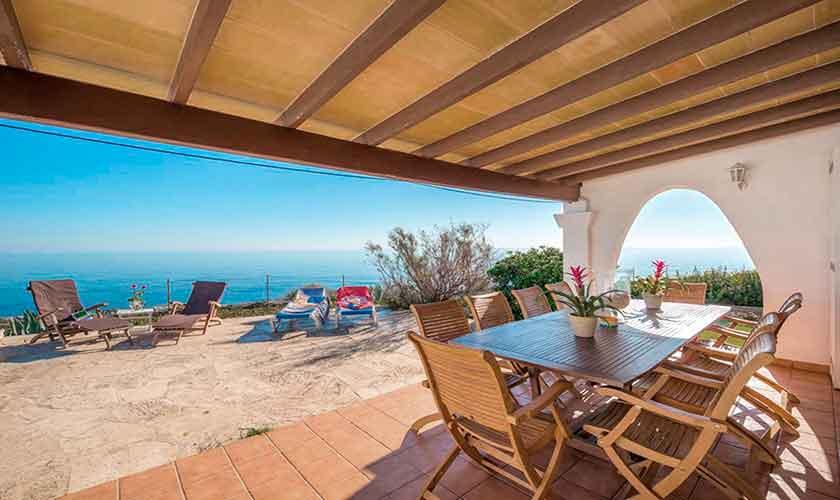 Terrasse und Meerblick Ferienhaus Mallorca PM 6310