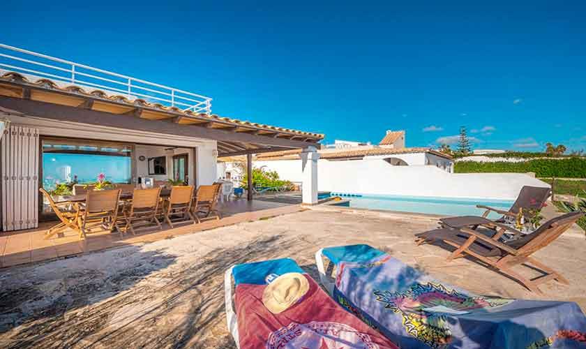 Terrasse und Ferienvilla Mallorca PM 6310