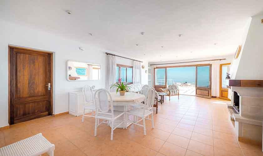 Wohnbereich oben Ferienhaus Mallorca PM 6310