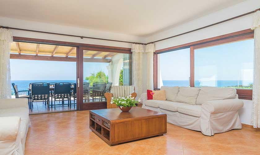 Wohnraum mit Meerblick Ferienvilla Mallorca PM 6310