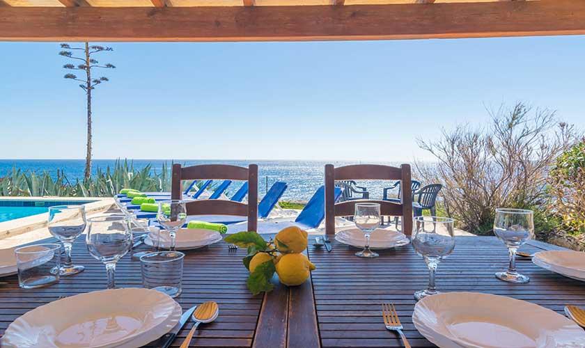 Esstisch mit Meerblick Ferienvilla Mallorca PM 6310