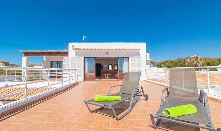 Terrasse oben Ferienvilla Mallorca PM 6310