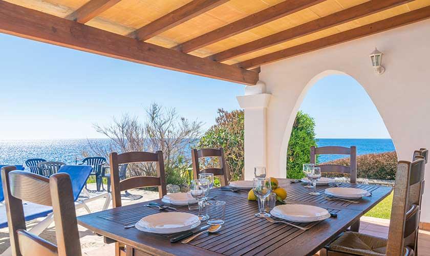 Terrasse und Meerblick Ferienvilla Mallorca PM 6310