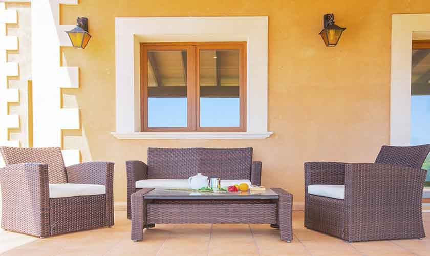 Terrasse Finca Mallorca mit Pool PM 6522