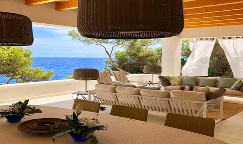 Terrasse und Meerblick Ferienvilla Mallorca PM 6529