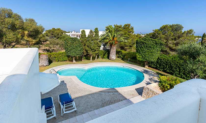 Poolblick von oben Ferienvilla Mallorca PM 6532