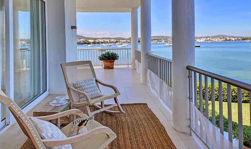 Terrasse mit Meerlbick Ferienvilla Mallorca PM 6534