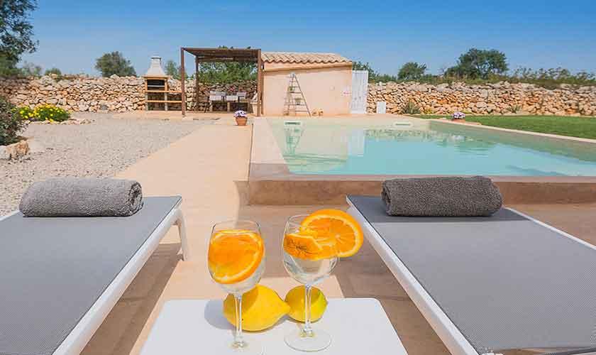 Poolblick Finca Mallorca für 4 Personen PM 6537