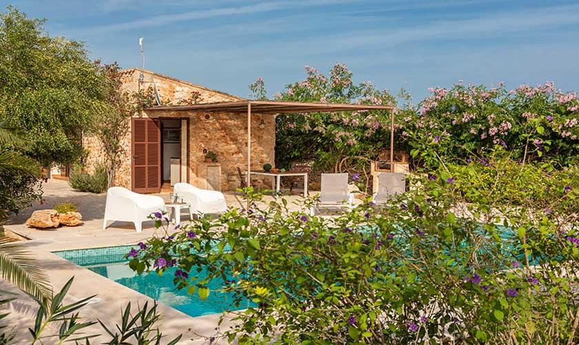 Pool und Garten Ferienfinca Mallorca PM 6538