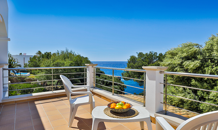 Terrasse Meerblick oben Ferienvilla Mallorca PM 6539