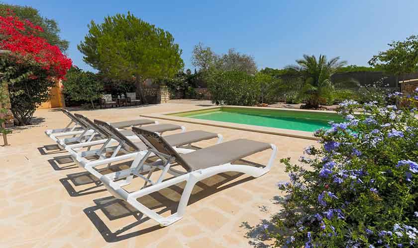 Pool und Liegen Finca Mallorca PM 6540