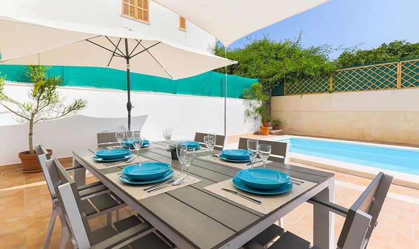 Pool und Terrasse Ferienhaus Cas Concos PM 6541