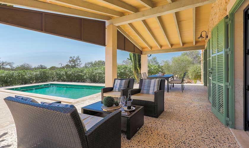 Pool und Terrasse Finca Mallorca Süden PM 6545