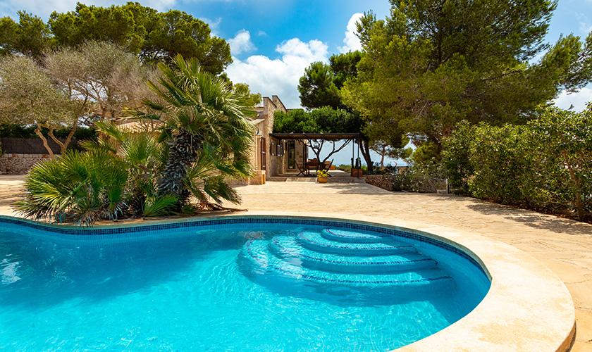 Pool und Meerblick Ferienhaus Mallorca PM 6546