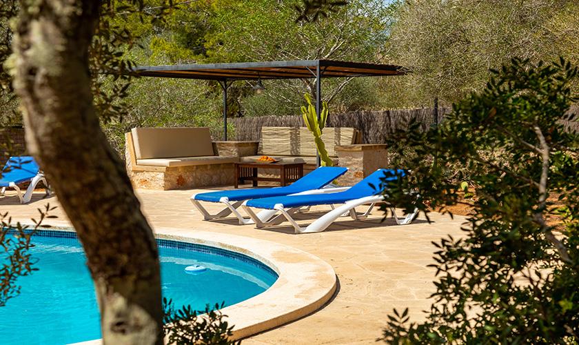 Terrasse und Pool Ferienhaus Mallorca PM 6546