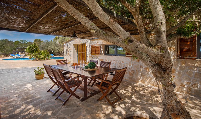 Esstisch Terrasse Ferienhaus Mallorca PM 6546