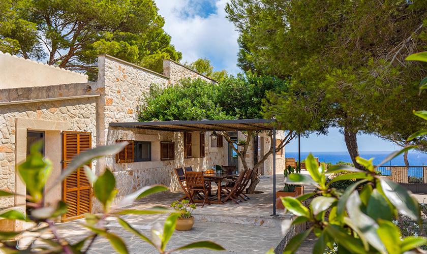 Terrasse und Meerblick Ferienhaus Mallorca PM 6546