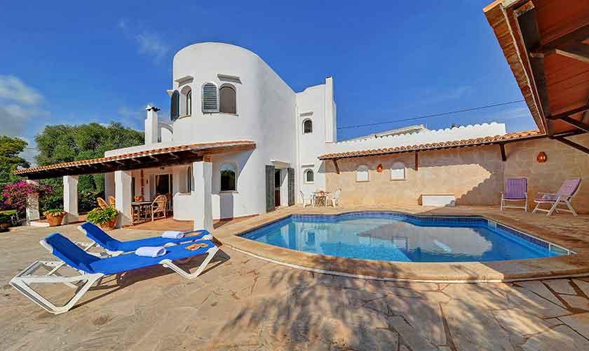 Pool und Terrasse Ferienhaus Mallorca PM 6552