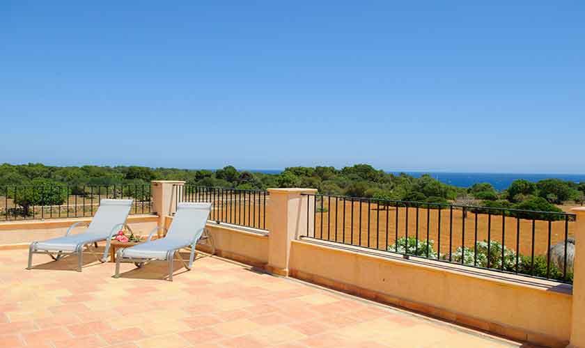 Terrasse oben Finca Mallorca PM 6555