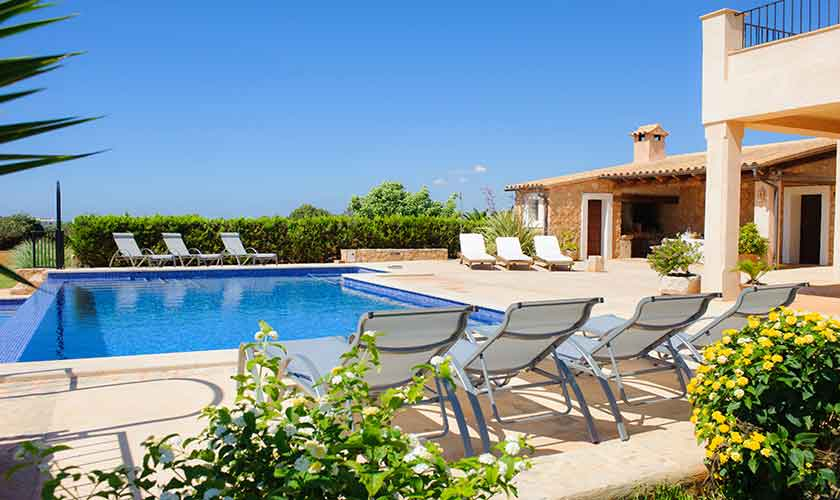 Pool und Terrasse Finca Mallorca PM 6555