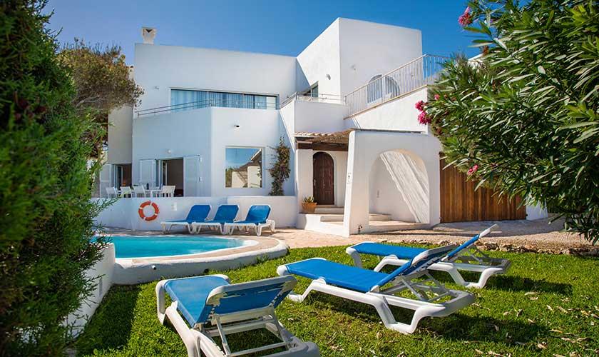Pool und Liegen Ferienvilla Mallorca Cala d´Or PM 6569