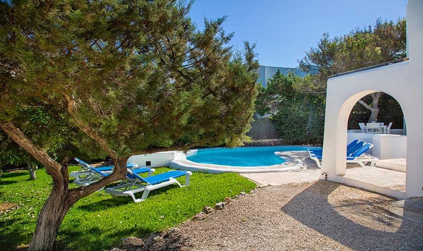 Pool und Garten Ferienvilla Mallorca Cala d´Or PM 6569