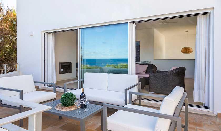 Terrasse oben  Ferienvilla Mallorca Cala d´Or PM 6569