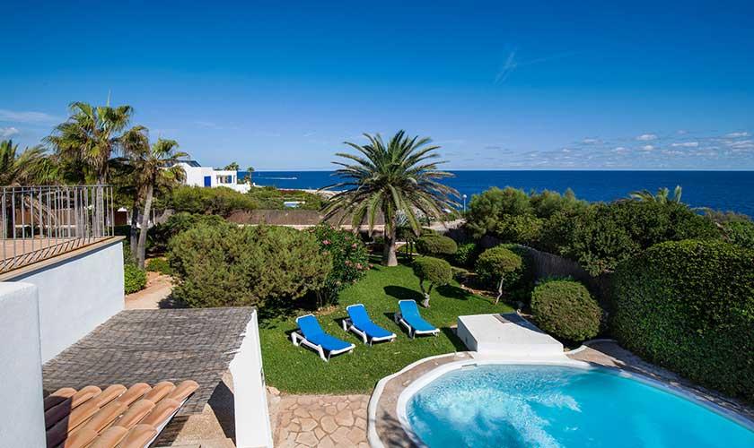 Pool und Meerblick Ferienvilla Mallorca Cala d´Or PM 6569