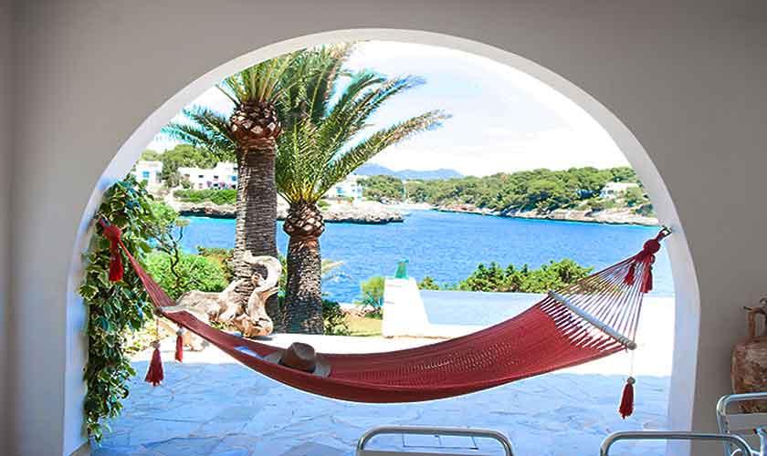 Terrasse und Meerblick Ferienvilla Mallorca PM 6574