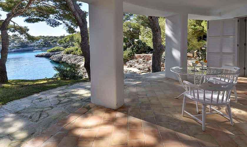 Terrasse mit Meerblick Ferienvilla Mallorca PM 6597