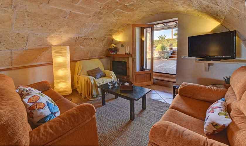 Wohnraum Finca Mallorca Pool 6 Personen PM 6598