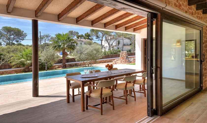 Terrasse Ferienhaus Mallorca Südosten PM 6599